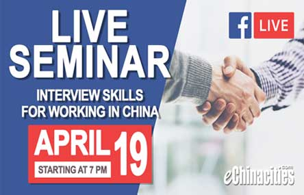 eChinacities Facebook Livestream Will Help You Forge a Career in China