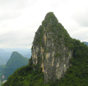 One of the views from Moon Hill, Yangshuo