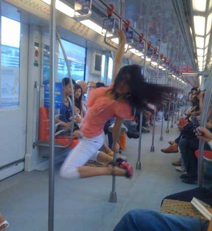 pole dance metro