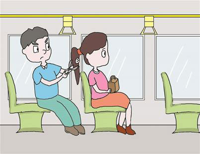 Wuhan Man Chops Woman's Hair Off on Public Bus Out of Boredom