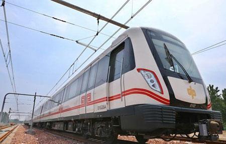 Souprava Zhengzhouského metra pro první linku.